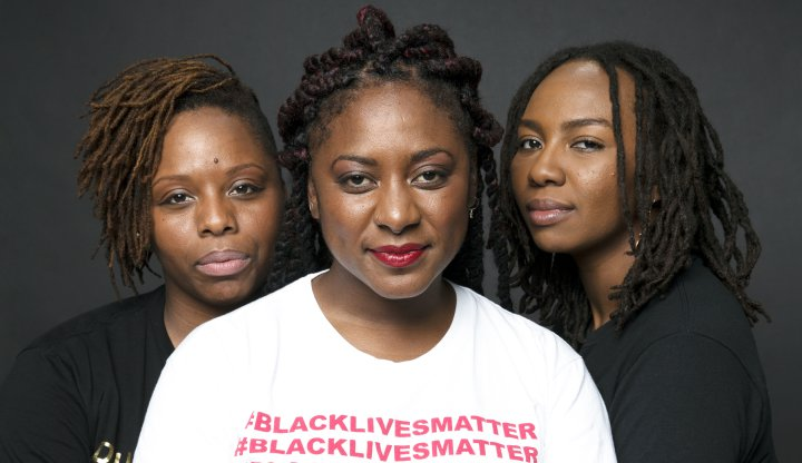 Photo of Alicia Garza, Patrisse Cullors, and Opal Tometi